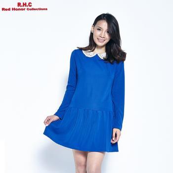 【R.H.C】蕾絲領低腰小洋裝