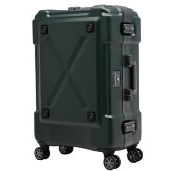日本 LEGEND WALKER 6302-62-25吋 鋁框密碼鎖輕量行李箱 消光綠