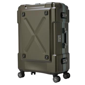 日本 LEGEND WALKER 6302-69-28吋 鋁框密碼鎖輕量行李箱 消光棕