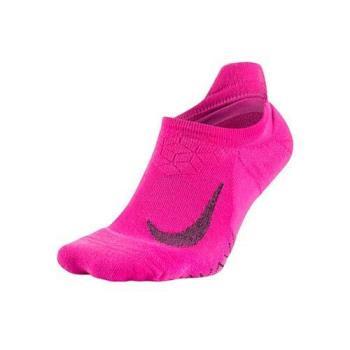 NIKE 精英緩震女短襪-慢跑 路跑 訓練 襪子 一雙入 粉紅黑