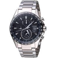 星辰CITIZEN GETS系列鈦金紳士電波計時腕錶 AT8154-82E
