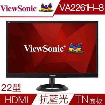 ViewSonic 優派 VA2261h-8 22吋 Full HD LED顯示器