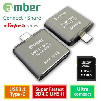 amber 超極速SD4.0讀卡機OTG USB 3.1 Type-C to SD4.0 UHS-II reader/ writer_312 MB/s