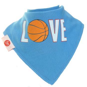 英國Zippy-幼兒時尚口水巾-我愛籃球