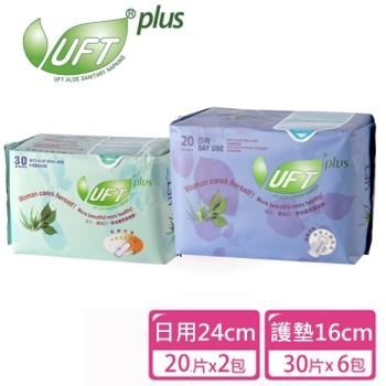 【UFT】蘆薈草本衛生棉組合包(日用*2包/護墊*6包)