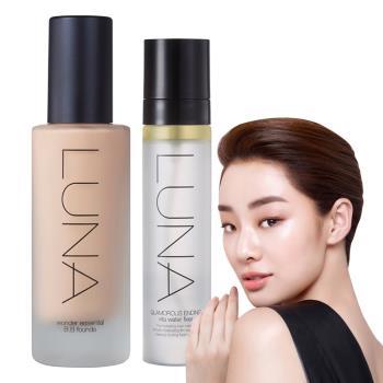 韓國LUNA 完美遮瑕保濕粉底液40ml(送定妝噴霧50ml)