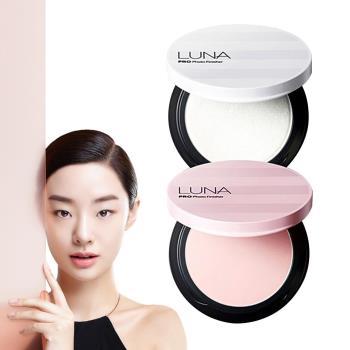 韓國LUNA HD柔焦高光感蜜粉餅(珍珠白)7g (粉盒X1+粉蕊12.5gX1+粉撲X2)