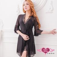 天使霓裳 浪漫滿點 性感柔紗外罩式連身睡衣(共4色F) AD1033