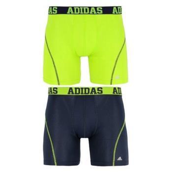 Adidas 男時尚Climacool寶藍綠色四角修飾內著混搭2件組(預購)