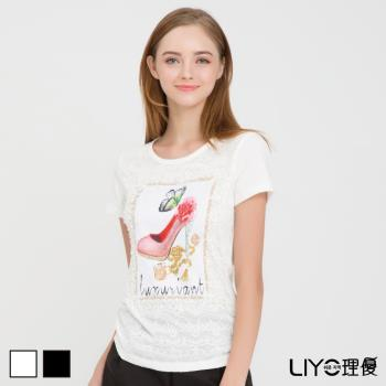 LIYO理優 上衣圖案印花T恤E732008