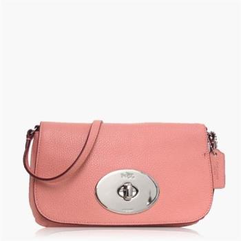 COACH 輕便小包 卵石皮革 / 側背 / 斜背包(專櫃小款)_粉色