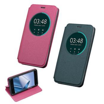 YANGYI 揚邑-ASUS ZenFone 4 5.5吋 ZE554KL 金沙開窗車線側立休眠隱藏磁扣皮套