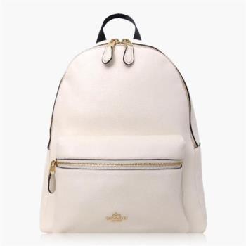 COACH 旅行必備 皮革 / 背包 / 後背包 白色