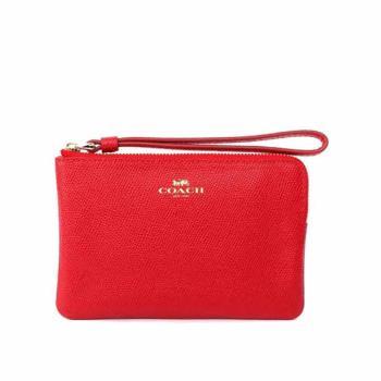 COACH L型拉鍊手拿包(紅莓色)F58032 IMDN8