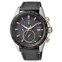 CITIZEN 星辰鈦金屬 穿梭時間 全球電波腕錶-黑/42mm AT8158-14H