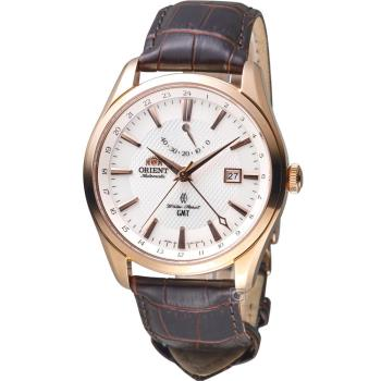 ORIENT東方錶GMT系列雙時區機械錶 SDJ05001W