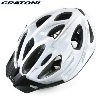 CRATONI 德國專業品牌 C-BASE 登山車用安全帽-白銀