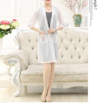 韓國K.W. 2XL~4XL現貨輕柔色彩風尚條紋連身裙兩件套裝