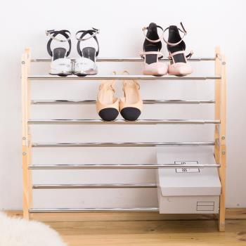 【時尚屋】[7GCG]宮本松木伸縮鞋架7GCG-DH311免運費/DIY/收納/鞋椅