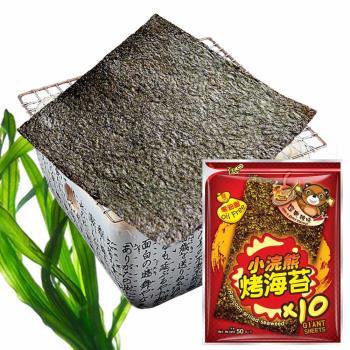 【小浣熊】零油脂烤海苔50g 6入/組  (經典辣味)