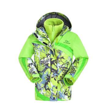 【聖伯納 St.Bonalt】女中童-可拆式連帽刷毛四合一防水防風外套(6032)