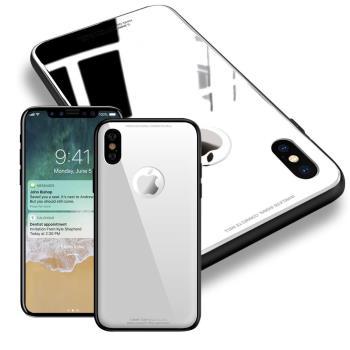 AISURE iPhone X 期待完美玻璃保護殼-白