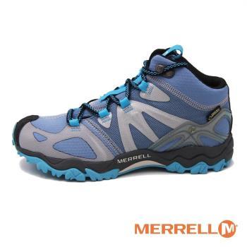 MERRELL GRASSBOW MID SPORT GORE-TEX防水登山運動多功能高筒 女鞋-藍(另有紫)