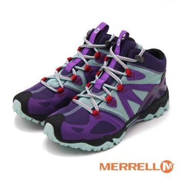 MERRELL GRASSBOW MID SPORT GORE-TEX防水登山運動多功能高筒 女鞋-紫(另有藍)
