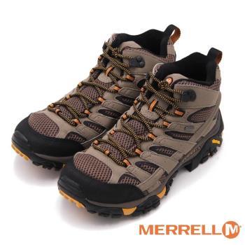 MERRELL MOAB 2 MID GORE-TEX防水登山多功能高筒 男鞋-棕