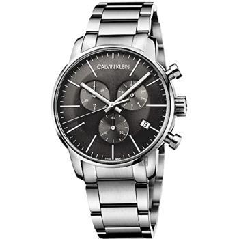 Calvin Klein CK City 都會紳士計時手錶-黑 43mm K2G27143