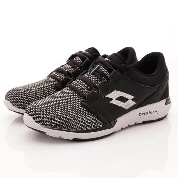 Lotto樂得-飛織透氣跑鞋-MR5990黑(男款)