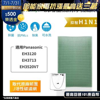 【Original Life】空氣清淨機濾網 適用Panasonic:EH3120、EH3713、EH3520V7★長效可水洗