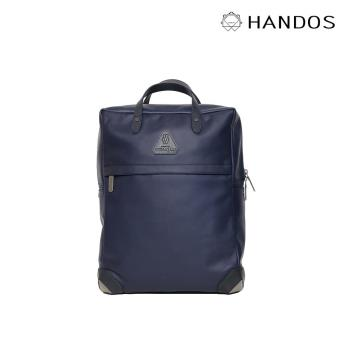 HANDOS - HERRY L. 皮革後背包-霧藍-特價