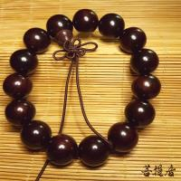 【菩提居】上等沉水紫檀手珠 15mm