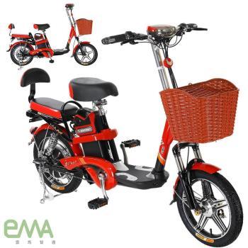 【 EMA 】EF-688 馬力歐 48V鋰電 LED超亮大燈 輕便 電動輔助自行車 (客約)