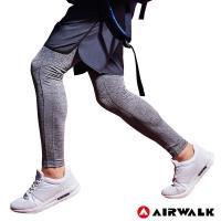 【AIRWALK】男款運動緊身長褲-男-淺麻灰色