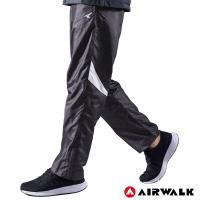 【AIRWALK】男款拼接風衣長褲-男-深灰色
