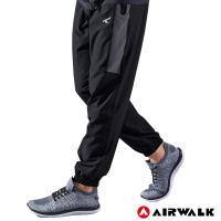 【AIRWALK】男款縮口風衣長褲-男-黑色