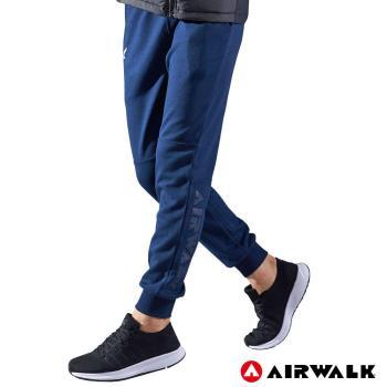 【AIRWALK】男款運動休閒長褲-男-深藍色