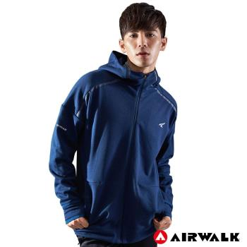 【AIRWALK】男款連帽中厚外套-男-深藍色