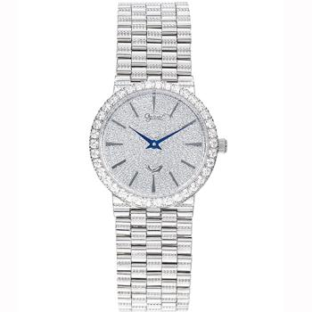 Ogival瑞士愛其華-尊寵滿天星石英腕錶(優雅銀30mm)377LW