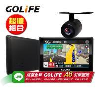 GOLiFE GoPad 5S 多功能智慧Wi-Fi 5吋聲控導航平板機+R20防水倒車顯影鏡頭(送16G+摺疊手提袋)