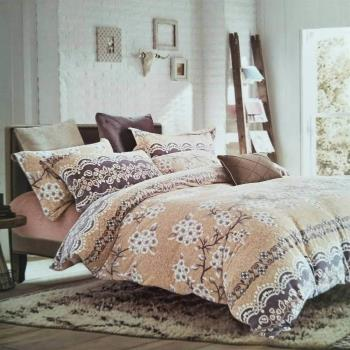 5D金貂絨保暖雙人床包4件組-彼岸花開