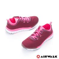 【美國 AIRWALK】 SOCKIN 雙層襪感心機輕量慢跑鞋  -女-膚感紅