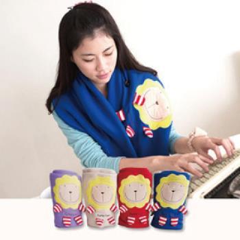奶油獅 正版授權-台灣製造-舒適輕柔造型毯(1入)-藍(可當暖手枕)