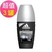adidas愛迪達 男用制汗香體滾珠(青春活力)x3罐(40ml/罐)
