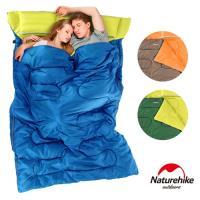Naturehike 四季通用 加大加厚雙人帶枕睡袋 多款任選