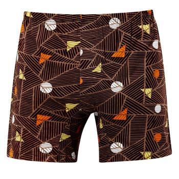 【DADADO】線條幾何 M-LL 印花平口褲(棕)純棉四角-男士內褲-透氣舒適
