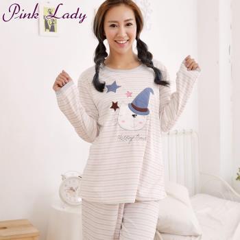 任-【PINK LADY】魔法小貓居家棉柔長袖成套睡衣1606(粉)