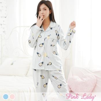 PinkLady甜滋滋波蘿居家襯衫型長袖成套睡衣 (838-2)